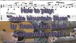 How to play - Snake Mountain Blues - Colter Wall cover tutorial with TAB