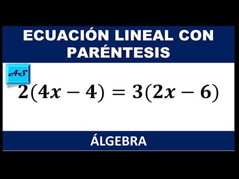 Ecuación Lineal Con Paréntesis Youtube