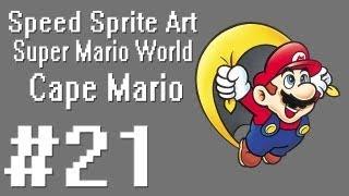 Speed Sprite Art #21 ~ Super Mario World [SNES] [Cape Mario]