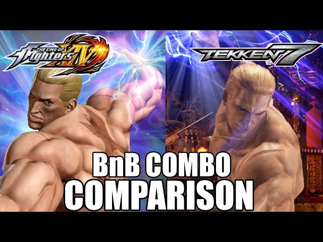 KOF XIV & T7: Geese Howard BnB Combo Comparison