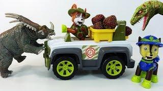 Щенячий Патруль - Сюрпризы Игрушки Динозавры и Клубника - видео для детей в мультик с игрушками