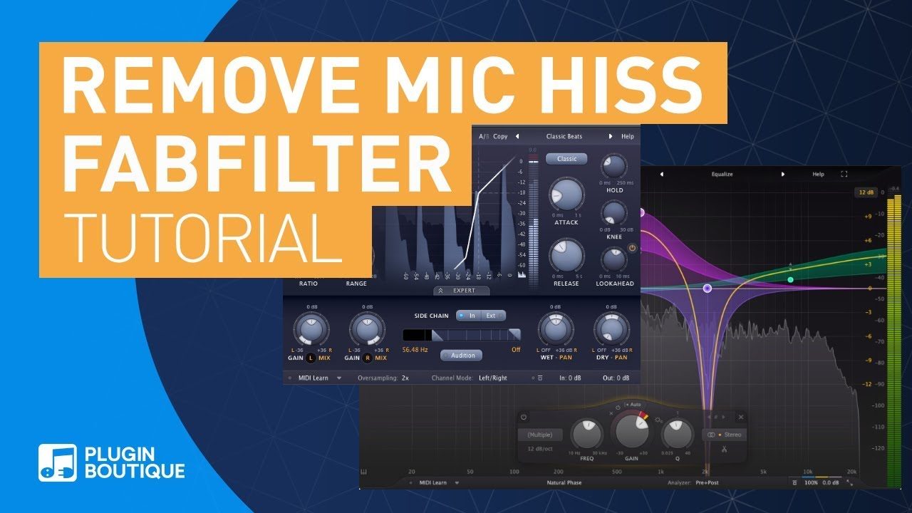 How to Remove Mic Hiss with Fabfilter Plugins | Pro-Q 3 & Pro-G Vocal  Tutorial