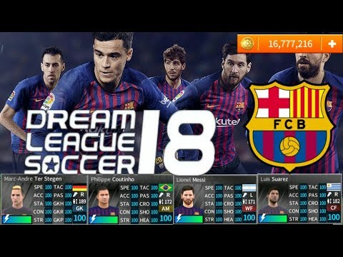 HACK FC Barcelona 2019 ALL PLAYERS 100 - DREAM LEAGUE SOCCER 2018 MOD  v5 057 APK HACK & CHEATS