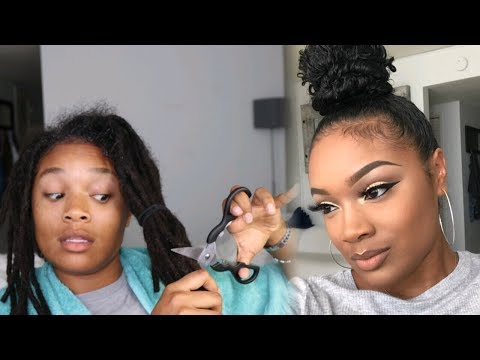 COMBING OUT MY DREADS | WATCH ME TRANSFORM