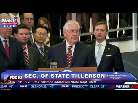 MAJOR: New Secretary of State Rex Tillerson Speaks to State Department Staff - FNN