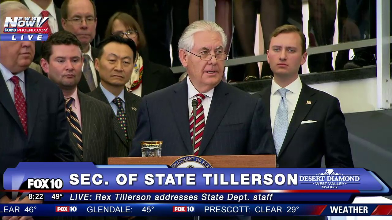 Image result for photos of rex tillerson with state dept employees
