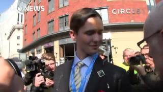 Young Conservative egged as protesters target conference