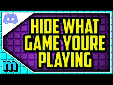 How To Disable Game Activity On Discord 2018 (EASY) - Discord Hide Game I'm  Playing Help