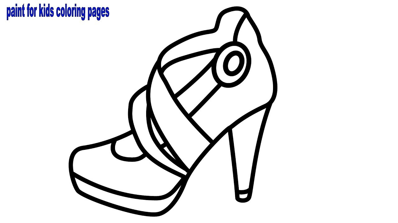 Girl Shoes Coloring Book, How to Draw and Coloring Pages