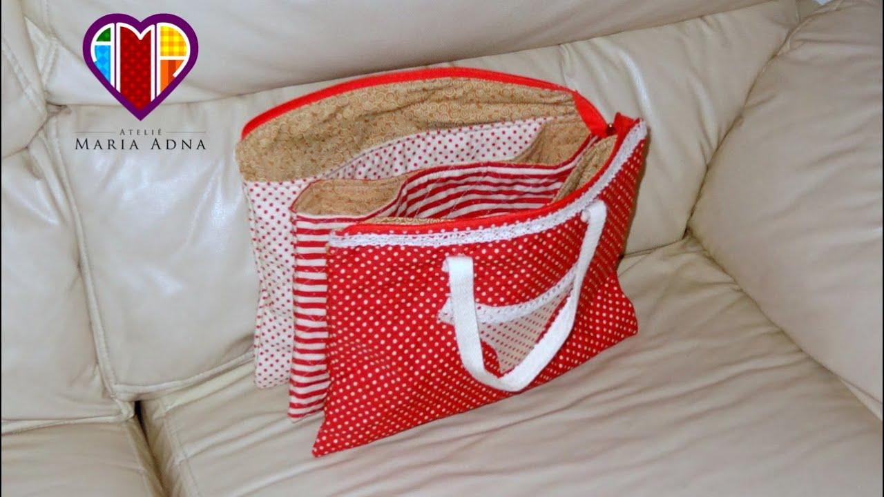 Bolsa De Papelão E Tecido Passo A Passo : Bolsa necessaire de tecido laureen diy fabric