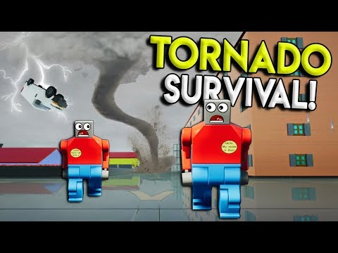 LEGO TORNADO SURVIVAL CHALLENGE! - Brick Rigs Gameplay Destruction Challenge - Lego Hide and Seek