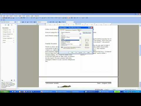 Creating a Custom Toolbar in WordPerfect