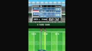 Tecmo Bowl: Kickoff (DS) - Baltimore vs Washington Gameplay