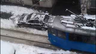 Snow troubles in Zagreb
