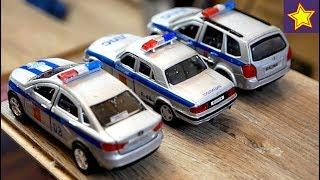 Полицейские Машинки Прыгают Через Мост В Воду Догоняем Нарушителей Toys Cars