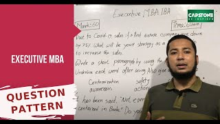 Question Pattern Of Executive MBA Of IBA