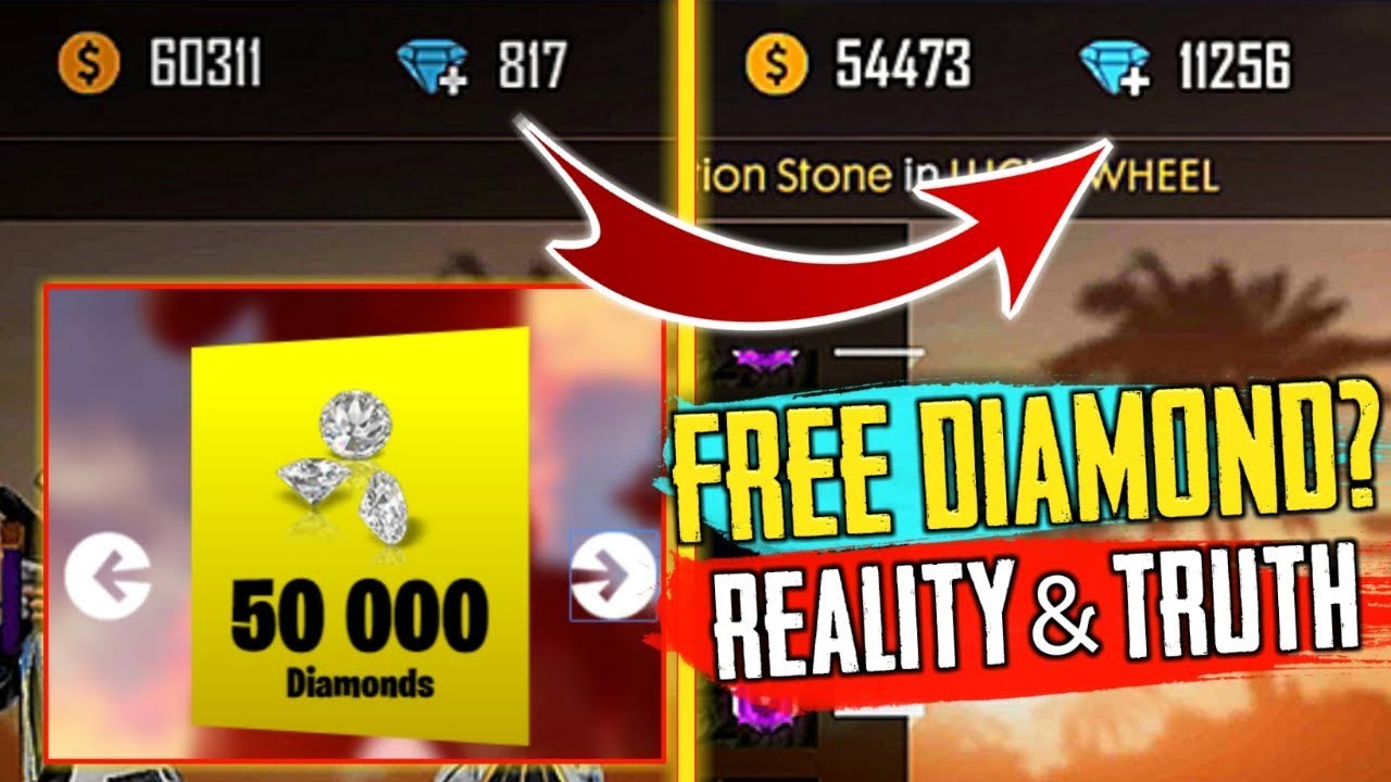 How To Get Free Diamonds In Free Fire 2019 - Reality Explain- Garena Free Fire