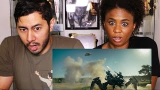 GUARDIANS (Awesome Russian Trailer) Reaction by Jaby & Cortney!