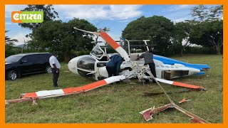 Chopper crashes shortly after dropping Raila in Gem, Siaya County