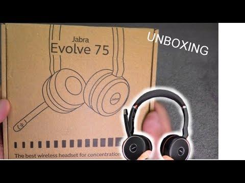 Jabra Evolve 75 Office Headset Unboxing Youtube
