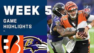 Bengals vs. Ravens Week 5 Highlights | NFL 2020