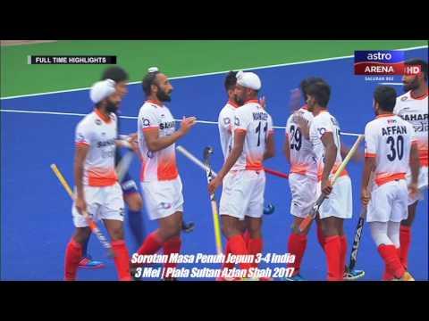 Piala Sultan Azlan Shah 2017: Sorotan Masa Penuh Jepun 3-4 India   Astro Arena