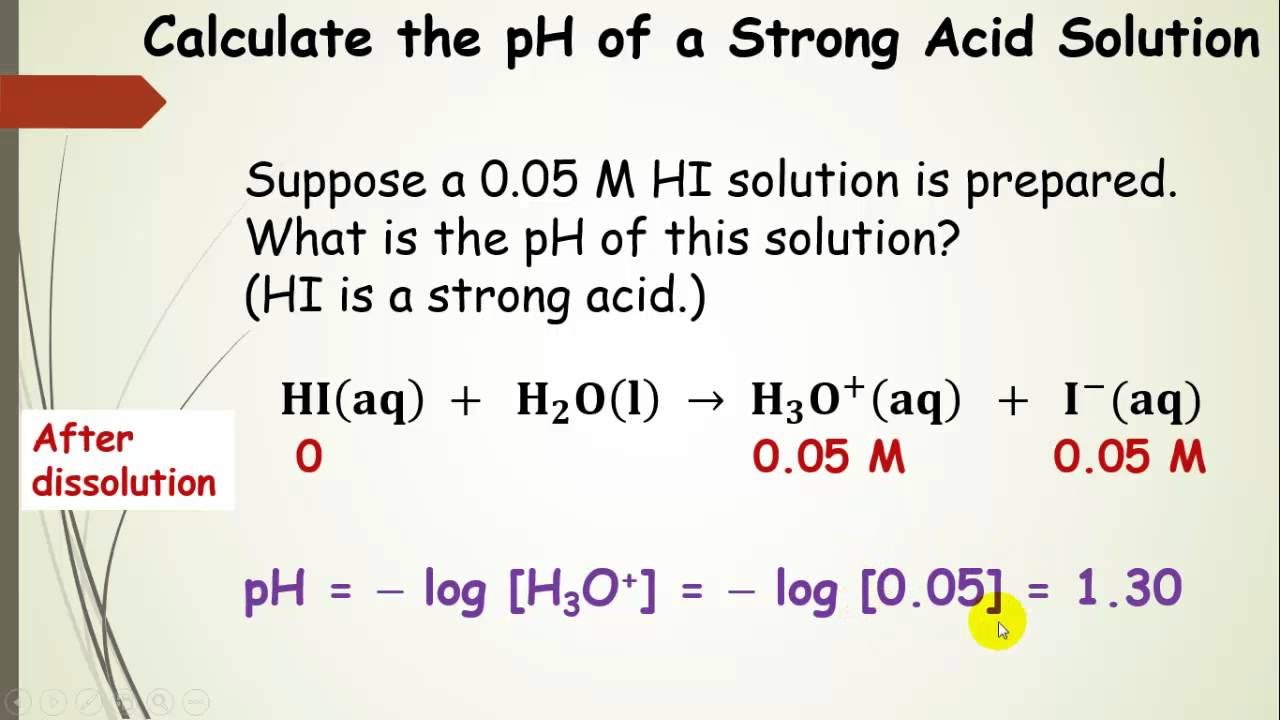 Comparison Of Strong And Weak Acid Ph Calculations  Pt 4