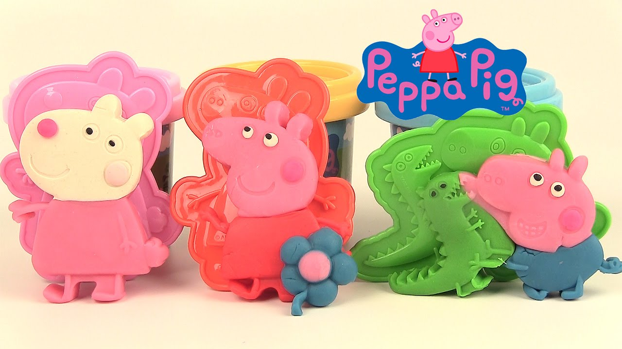 play doh peppa pig p te modeler jouets pour petits suzy. Black Bedroom Furniture Sets. Home Design Ideas