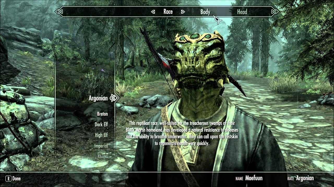 The Elder Scrolls V: Skyrim - How to Change your Race and Keep your Stats
