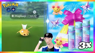 "FULL ODDS SHINY MAGIKARP CAUGHT! 3x SPECIAL STARDUST EVENT in Pokemon Go! ""CHERRIM BONUS"""