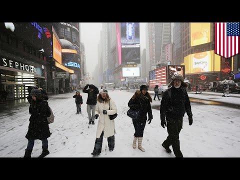Massive blizzard hits the United States' East Coast on Monday