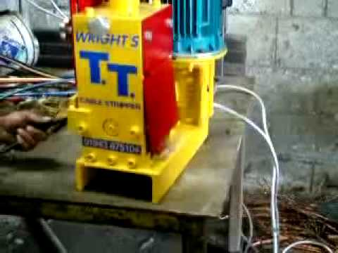 T T Table Top Wire Cable Stripping Machine Youtube