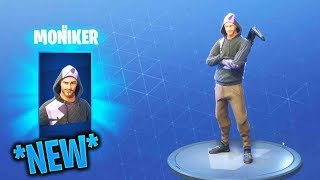 "Buying New ""Moniker"" Skin! & Showcased With 50 Back Blings! ( Fortnite BR)"