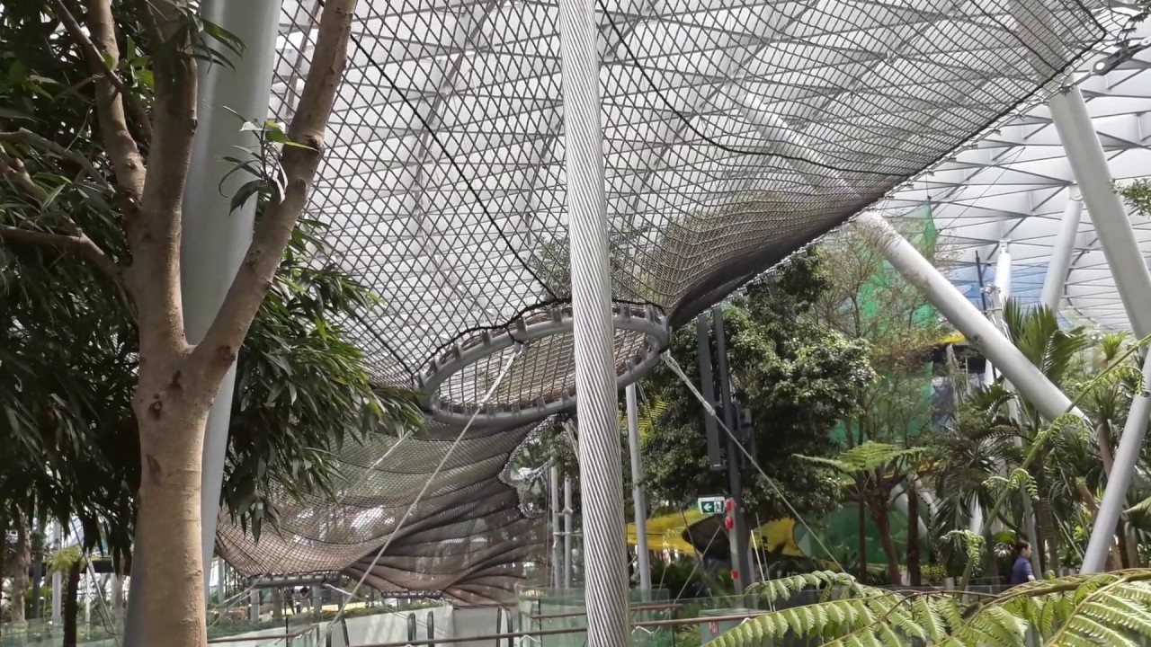 Jewel Changi Airport Manulife Nets At Canopy Park Youtube