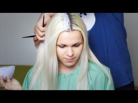 Красимся в блондинку 2. Осветление корней волос в домашних условиях с тонированием