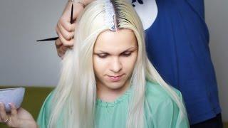 Красимся в блондинку 2. Осветление корней волос в домашних условиях с тонированием(, 2014-07-16T11:52:04.000Z)