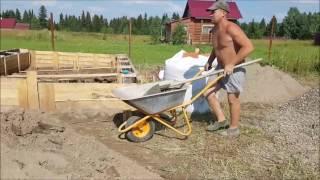 Приготовление бетона вручную из песка, гравия и цемента д  Луговая(, 2017-03-02T17:23:56.000Z)