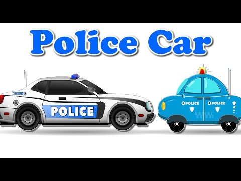 Police Car   Emergency Vehicles   Video for Kids   Police Cars for Children thumbnail