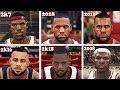 Lebron James NBA 2K Vs NBA Live Vs Real Life Face Comparison (2003 - 2017)