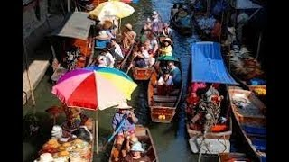 Thailand floating market (yüzen çarşı)-1