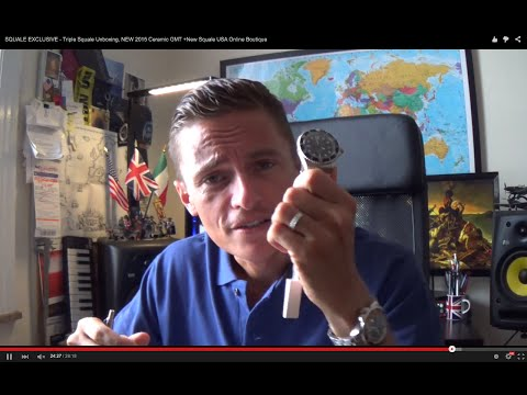 SQUALE EXCLUSIVE - Triple Squale Unboxing, NEW 2015 Ceramic GMT +New Squale USA Online Boutique
