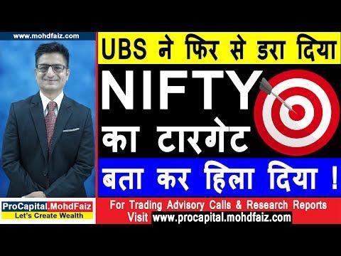 UBS ने फिर से डरा दिया NIFTY का टारगेट बता कर हिला दिया | NIFTY TRADING STRATEGIES