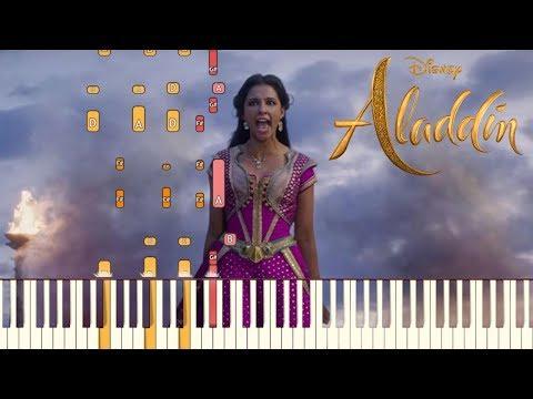 Speechless - Naomi Scott - Aladdin 2019  Piano Tutorial Synthesia