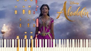 Speechless - Naomi Scott - Aladdin (2019) | Piano Tutorial (Synthesia)