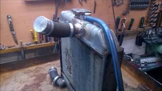 Проверка автомобильного радиатора на течь.Пайка Радіатора.