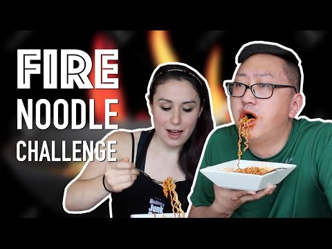 Korean Spicy Fire Noodle Challenge *SPIT ALERT*