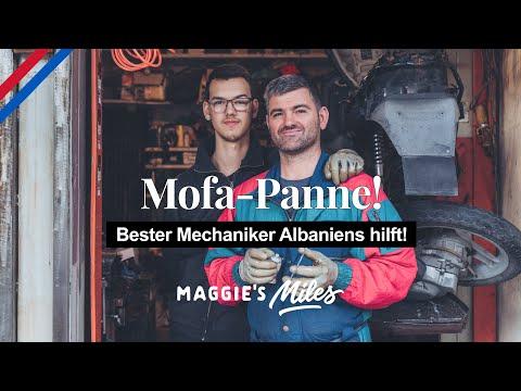 Mit dem Mofa nach Albanien | Öltank gerissen!