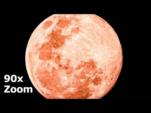 SUPER MOON April 7, 2020 using 90x LENS ZOOMED