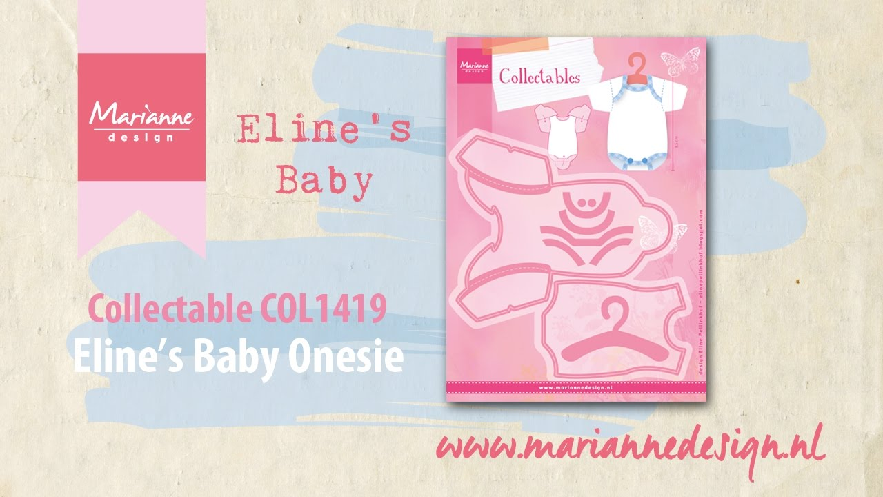 Collectable Col1419 Baby Onesie Elines Baby By Marianne Design
