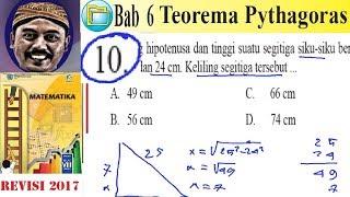 Teorema Pythagoras Matematika Kelas 8 Bse K13 Rev 2017 Luk 6 No 10 Hipotenusa Youtube